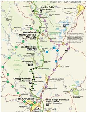 Blue Ridge Parkway Detour Map